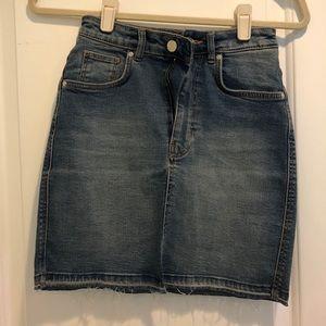 Zara Denim High-Waisted Mini-Skirt